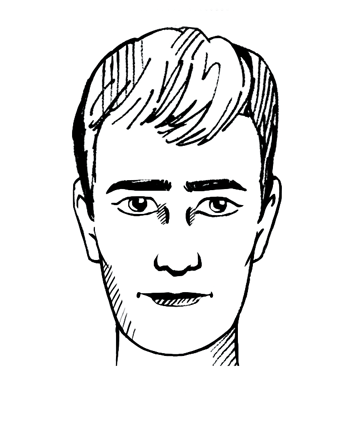 Rechthoekig gezichtstype