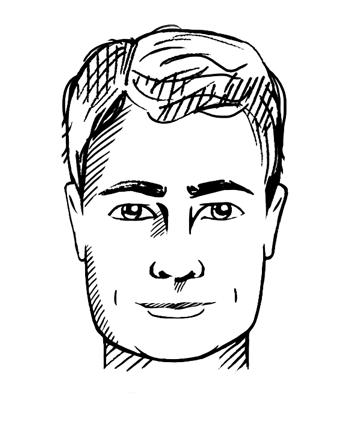 Vierkant gezichtstype