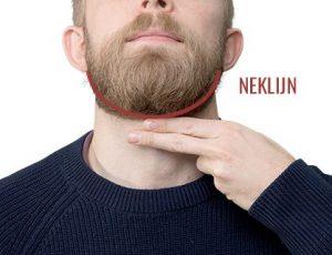 Baard trimmen: de neklijn