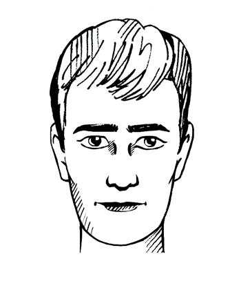 Langwerpig gezichtstype