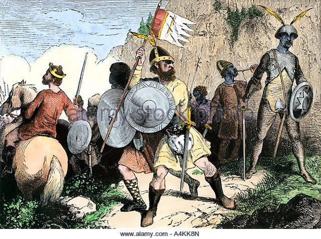 Saksen soldaat met baard