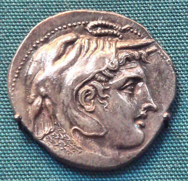 Munt met Alexander de grote zonder baard