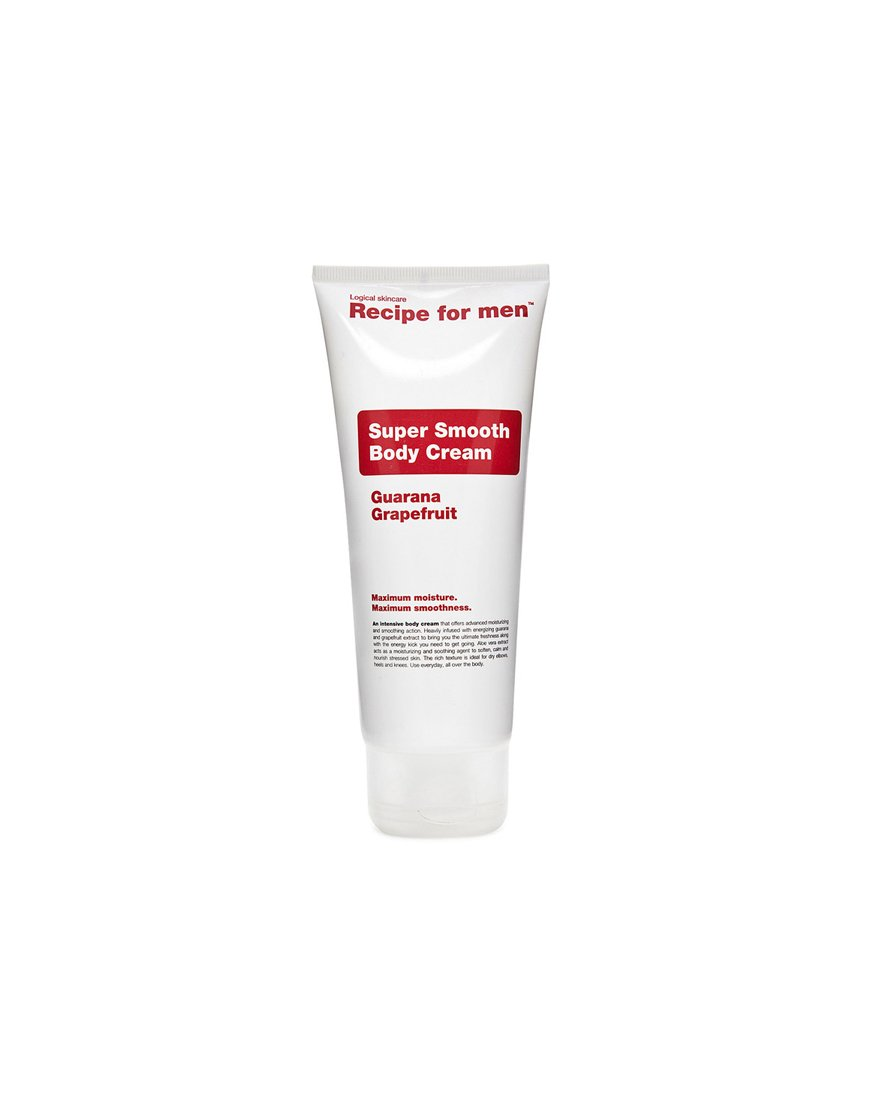 Recipe for men super smooth bodycream